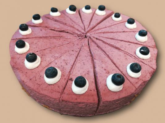 Mustikka-mustaherukkajuustokakku - Cafe Neilikka - Nummela